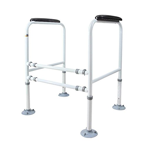 Doremy Bathroom Safety Toilet Rail Stand Alone Adjustable Handrail Frame Suction Cups for The Elderly and The Pregnant Weak Patients Disabled Postoperative Safe Support Aid by Doremy