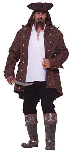 Pirate Captain Costume - Plus Size 3X - Chest Size (Plus Pirate Costume)
