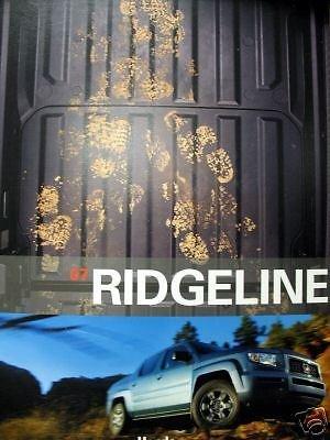 2007 Honda Ridgeline pickup truck new vehicle brochure