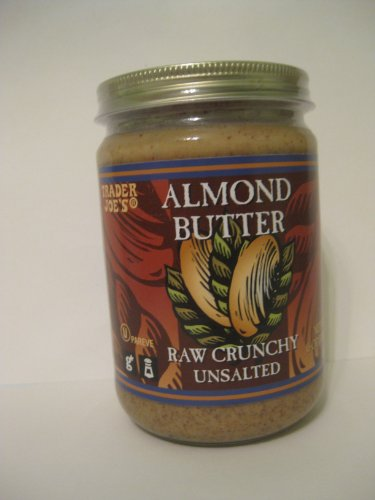 2 Packs Trader Joe's Almond Butter Raw Crunchy Unsalted 16 Oz Crunchy Almond Butter