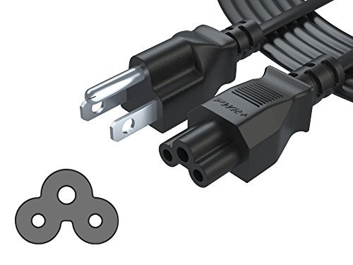 [UL Listed] PWR + 3Prong 4,6m AC Cable de alimentación para computadora portátil cable cargador para Dell IBM hp...