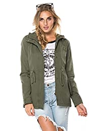 Hooded Parka Coat in Olive and Black (Plus Sizes Available S-XXXL)