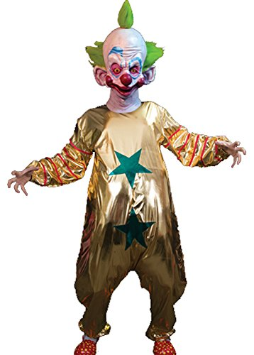 Killer Klowns From Outer Space Costume (Trick or Treat Studios Men's The Killer Klowns From Outer Space Shorty Halloween Costume One Size Gold)
