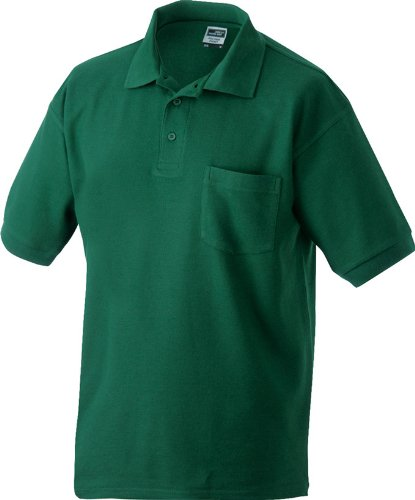 Klassisches Herrenpolo mit Brusttasche (S - 3XL) XL,Dark-Green