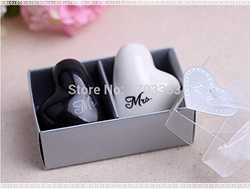 Mr. And Mrs. Ceramic Wedding Favors Heart Shape Mr And Mrs Salt Pepper Shakers Bridal Favor Gifts - Santa North Xmas Pajamas Sleeve Incredible Letters Throw Jo Vinyl ()