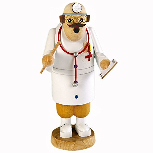 KWO Doctor Nurse Dentist Pharmisist and Veterinarian German Nutcracker - Made in Germany (KWO Doctor Giving Checkup German Incense Smoker) (Kwo German Nutcracker)
