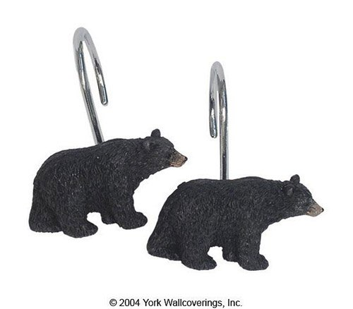 Avanti Black Bear Lodge Shower Hooks, Multicolored (Avanti Black compare prices)