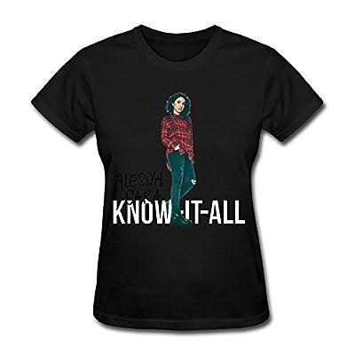 LOHUIOI Women's Know It All Alessia Cara T-shirt Size M Black