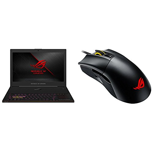 """Price comparison product image ASUS ROG GX501 (8th-Gen) 15.6"""" Ultra Slim Gaming Laptop, 144Hz IPS-Type G-SYNC, GTX 1080 8GB, Intel Core i7-8750H processor, 512GB PCIe SSD, 16GB DDR4 2666MHz + Wired RGB Gaming Mouse Bundle"""