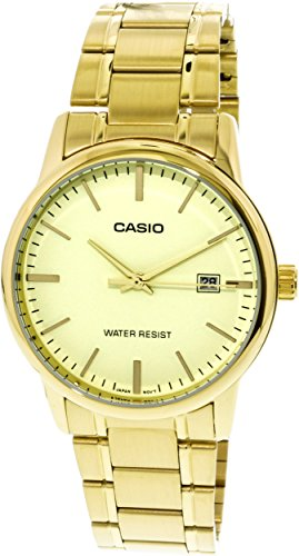 Casio MTP-V002G-9A Men s Standard Analog Gold Tone Stainless Steel Date Watch
