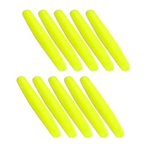 VGEBY 100Pcs Float Strike Indicator, Durable Tear Drop Fishing Bobber Tackle Accessory(Yellow-L)
