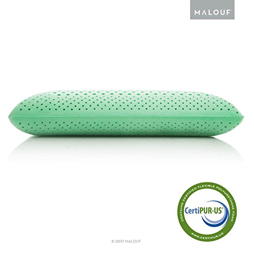 Z Zoned Dough Memory Foam Pillow Infused with Real Peppermint - Natural Peppermint Oil Aromatherapy Pillow Spray Included - Queen Size