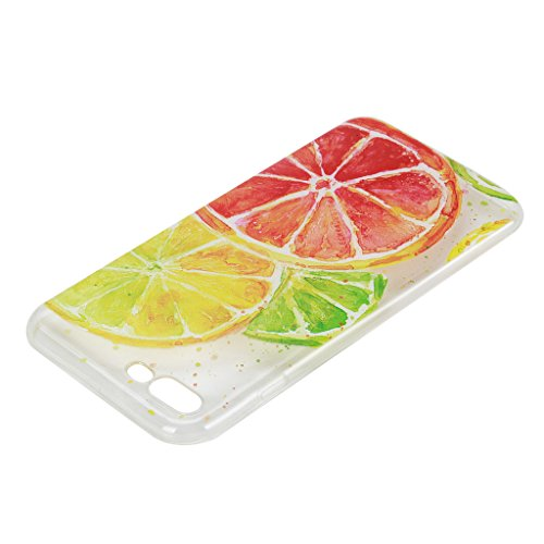 iPhone 7 Plus Cover , YIGA Moda Trasparente Limone Morbido TPU Case Custodia per Apple iPhone 7 Plus 5.5