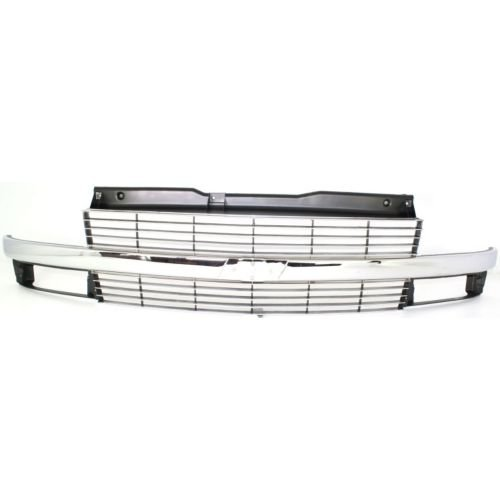 Astro Grille (Perfect Fit Group 6696-2 - Astro Grille, Painted-Silver, W/ Chrome Center Bar, W/ Composite)