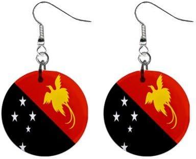 Papúa Nueva Juego de pendientes de la bandera de Guinea Ecuatorial: Amazon.es: Hogar