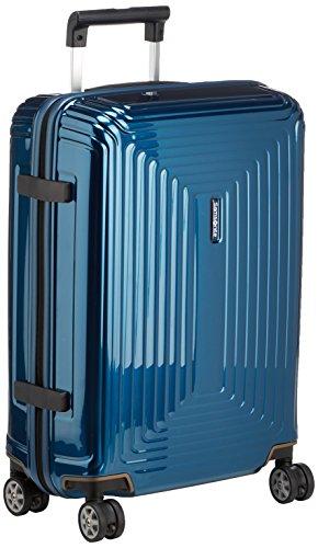 Samsonite Neopulse Suitcase,4 Wheel Spinner 55 Centimeter Cabin,Metallic Blue