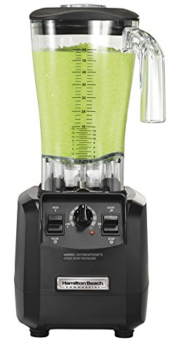 Hamilton Beach Commercial HBH550 The Fury Blender, 3 hp, 2 Speeds, Pulse, 64 oz./1.8 L Cutter Assembly Polycarbonate Container, 18.04