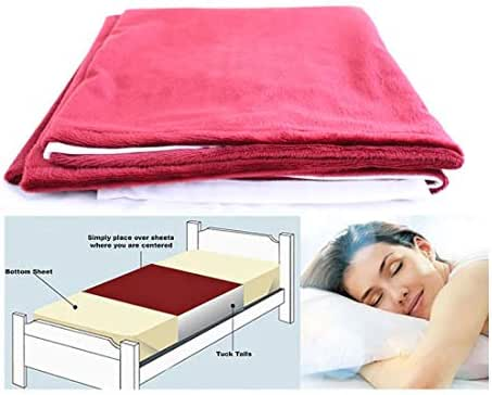 Cycleliners Period Bed Sheets Protector - Waterproof, Leakproof, Reusable, and Washable Menstrual Bed Pad (Full/Queen, Burgundy)