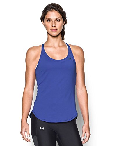 Under Armour Women's HeatGear Armour Coolswitch Tank, Constellation Purple/Graphite, X-Large
