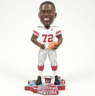 NEW YORK GIANTS OSI UMENYIORA SB 42 BOBBLEHEAD BOBBLE