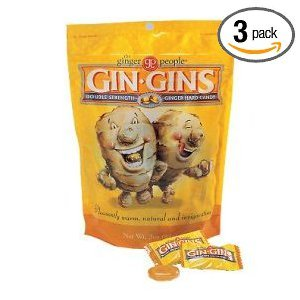 Ginger People Gin-Gins Natural Hard Candy Double Strength 3 Ounce Bags - (Pack of - Ginger Gins Gin Candy