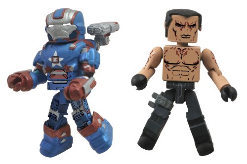 Diamond Select Toys Series 49 Marvel Minimates Iron Man 3: Iron Patriot and Extremis Action Figure (Iii Mark Iron)