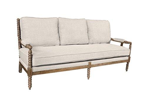 Moti Furniture Linen Sofa, Ivory