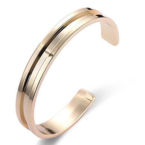 Rurah Women Fashion Open Bracelets Cuff Bangle,gold