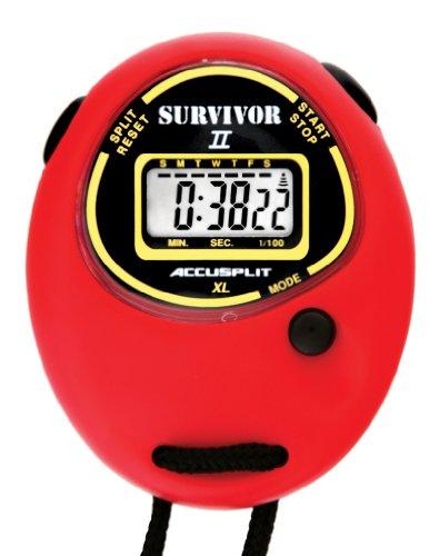 - ACCUSPLIT Survivor II S2XL Stopwatch, Clock (Red)