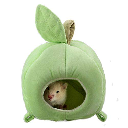 ANIAC Pet Winter Hanging Fruit House Hammock Warm Bed Nest Accessories for Hamster Guinea Pig Hedgehog Chinchilla and Small Animals (Green)