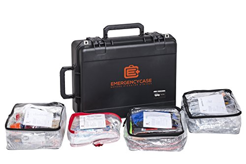 Premium Grade Car Emergency Case For Earthquakes, Floods, Tornadoes, Hurricanes - 2 Person 4 Days - Contains Fix-A-Flat, Jumper Cables, Tow Rope, Ice Scraper And More. Ideal For Car, Truck And Camper.