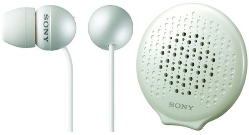 Sony MDR-EX34SC/WHI EX Style Headphones with Passi...