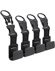 4Pcs Car Hooks for Purses and Bags, Headrest Hanger with Lock