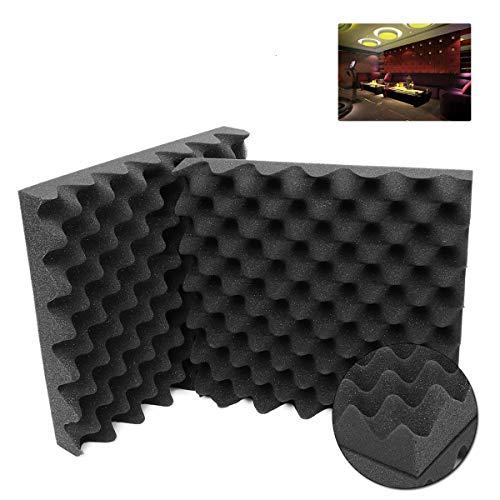 - 2Pcs Acoustic Studio Soundproof Foams Fire Retardant Egg Panels Sound Insulation Foam