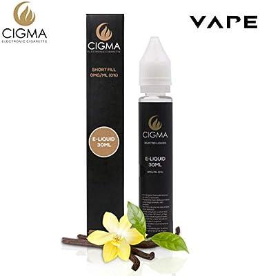 CIGMA Vanillia 30ml E Liquido 0mg | Nuevas botellas de llenado leve| Fórmula de calidad superior con solo ingredientes de alto grado | Hecho para ...