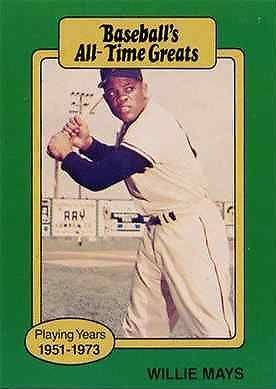 1987 Hygrade All Time Greats Willie Mays Baseball Card (Willie Mays Card)