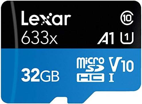 Lexar High-Performance 633x 32GB MicroSDHC UHS-I Card with SD Adapter (LSDMI32GBBNL633A)