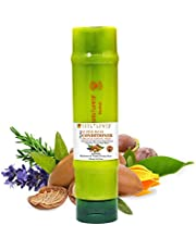 Soulflower Herbal Super Rich Silicone Free Leave-in Conditioner With Argan, Essential Oils of Rosemary & Lavender, For Smooth & Shiny Hair, Natural Aroma of Chamomile & Cocoa Butter, 250ml