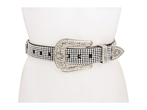 M&F Western Women's Crystal Cross Rhinestone Black Belt MD (34