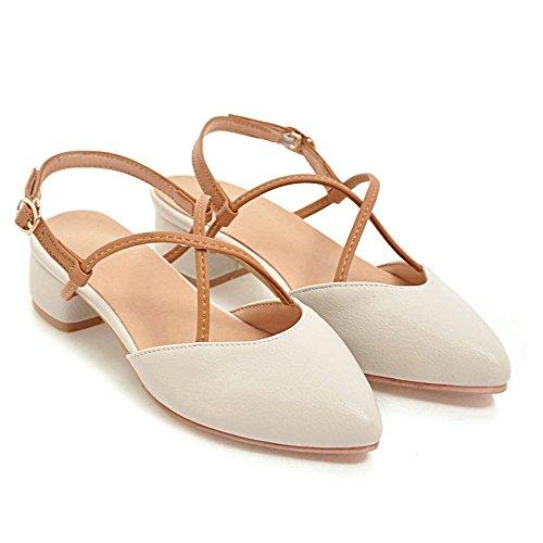 White Cream Sandals Slingback TAOFFEN Fashion Women z8qHywFX