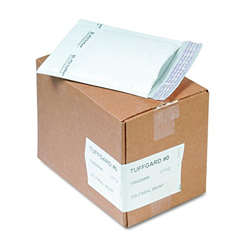 (Sealed Air TuffGard Mailers, Cushioned, 6 x 10 Inches, 25 per Count, White (SEL37712))