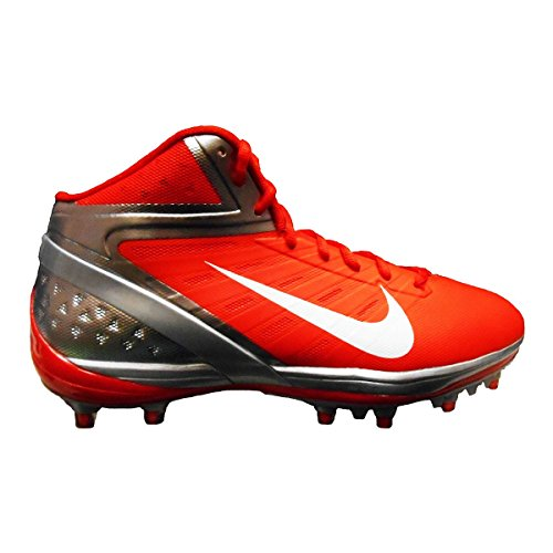 - Nike Alpha Pro TD Football Cleats (14, Orange Flash/White-Chrome)