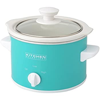 Kitchen Selectives Slow Cooker, 1.5-Quart, Turquoise