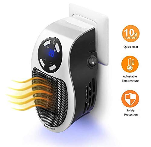 CSCR Portable Mini Fan Heater,500W Dryer Suitable Offices, Bedrooms, Bathrooms - Hot Air Blower ()