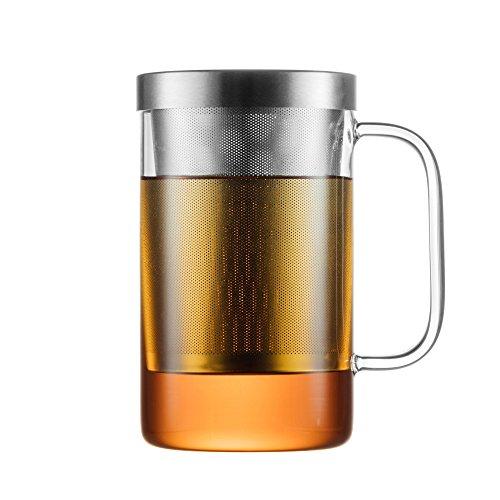 GAIWAN PURE 550S - Vaso de te con infusor y tapa incorporados - Apto para lavavajillas - Resistente al calor