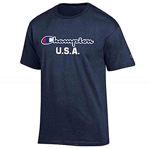 Champion Men's USA/Military Collection-Air Force, Army, Marines-Cotton T-Shirt (XX-Large, USA/Navy Script Over ()