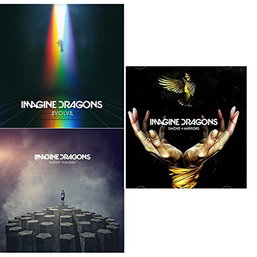 Evolve - Night Visions - Smoke + Mirrors - Imagine Dragons Coplete Studio Albums Box-Set 3 CD Bundling