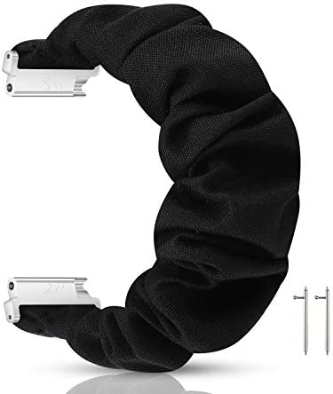 PENKEY 20mm Scrunchie Watch Band Compatible with Samsung Galaxy Watch 42mm,Soft Classic Pattern Replacement Wristbands for Samsung Galaxy Watch Active/Active 2 41edpB96n3L