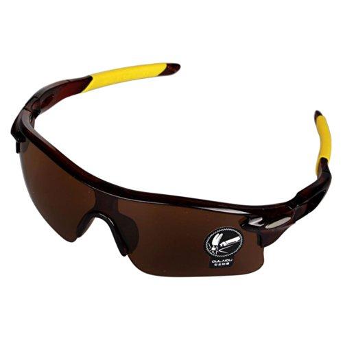Accmart Shatterproof Sport's UV400 Goggles Eyewear Eyeglass Sunglasses for Outdoor Activities Cycling Wayfarer Baseball Golf Fishing Lucency - Wayfarer Goggles
