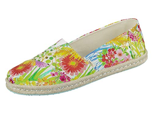 TOMS Women's Alpargata on Rope Sunshine Floral Delight Lawn On Rope 8.5 B US -